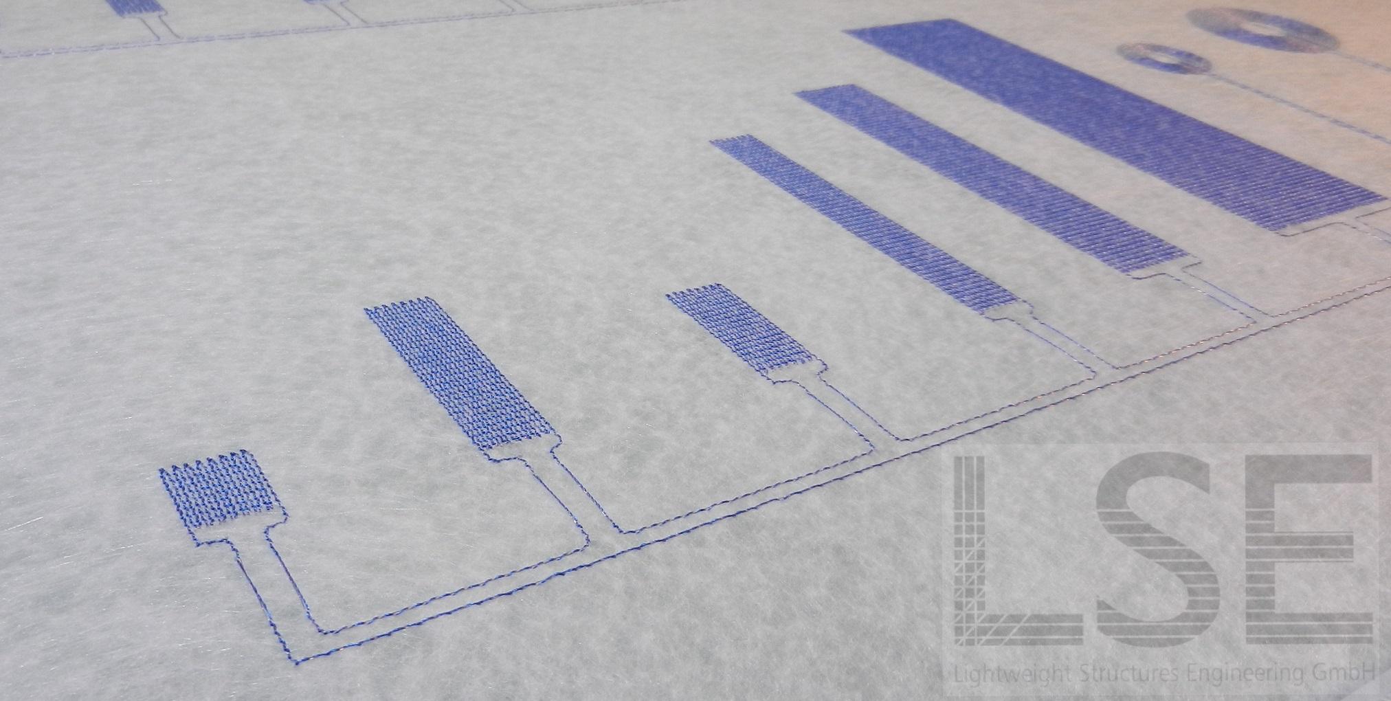 gestickte Sensoren - Gesamtgeometrien - LSE - Chemnitz